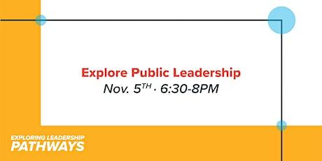 Explore  Public Leadership Panel tickets