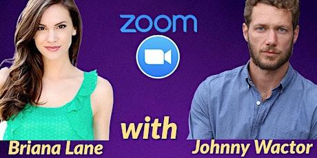 Briana Lane & Johnny Wactor Zoom- Sunday, November 8- 3pm EST tickets