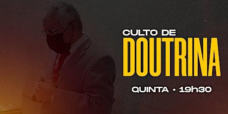CULTO DE DOUTRINA   22/10 • ADTC JOSÉ WALTER 2 billets