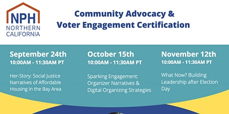 NPH Community Advocacy & Voter Engagement (CAVE) Certification Session 3 tickets