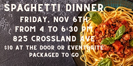 Spaghetti Dinner at Loaves and Fishes tickets