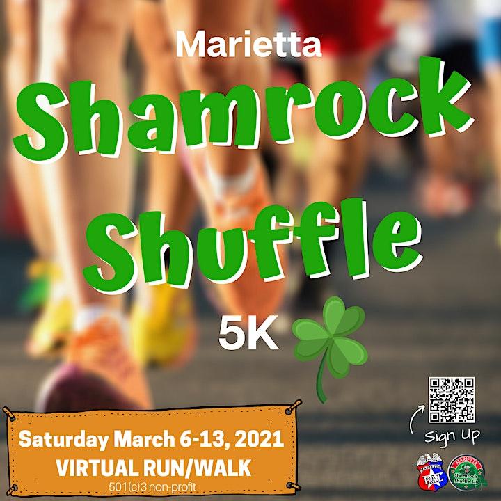 5th Annual Marietta Shamrock Shuffle  Virtual 5K Walk/Run image