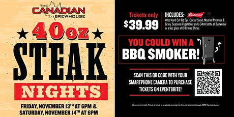 40oz Steak Night (Edmonton Ellerslie) - Saturday tickets