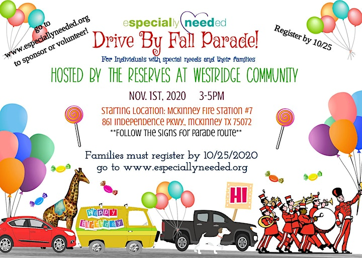 Especially Needed Drive By Fall Parade 2020 image
