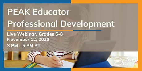 PEAK Educator Professional Development (Grades 6-8) tickets