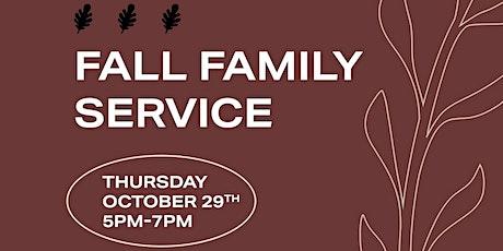 Fall Family Service tickets