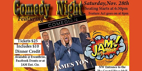 Comedy Night featuring James Yon with Dinner at The Underground Cantina tickets
