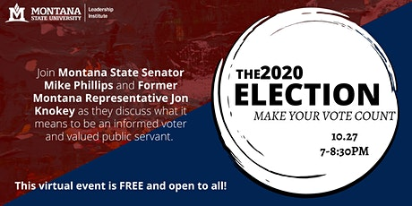 The 2020 Election: Make Your Vote Count tickets