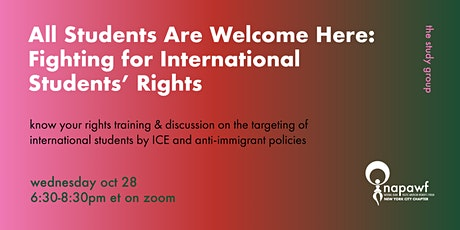 All Students Are Welcome Here: Fighting for International Students' Rights tickets