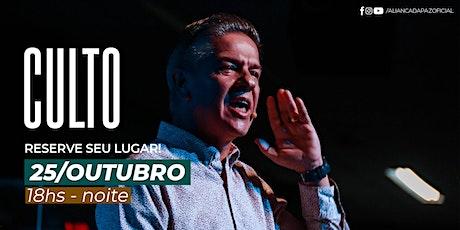 CULTO NOITE | Domingo 25/Outubro ingressos