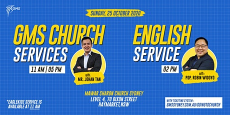 Sunday Live Service 1 (w/ Eagle Kidz) @ 11am -  25 October 2020 tickets