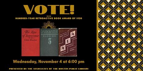 Hundred-Year Retroactive Book Award of 1920 tickets