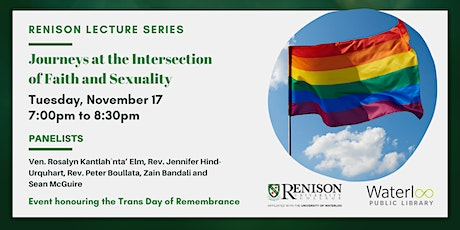 Renison Lecture Series: Journeys at the Intersection of Faith and Sexuality tickets