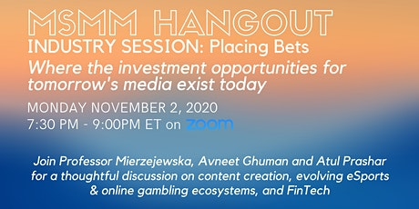 Placing Bets: Where The Investment Opportunities For Tomorrow's Media Exist tickets