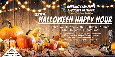 Housing Champions Halloween Happy Hour! (Virtual) tickets