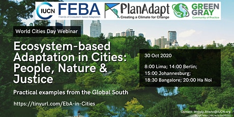 Ecosystem-based Adaptation in Cities: People, Nature & Justice tickets