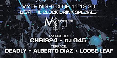 Outlet Fridays at Myth Nightclub | Friday 11.13.20 tickets