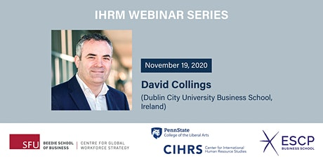 4th IHRM Webinar featuring David Collings tickets