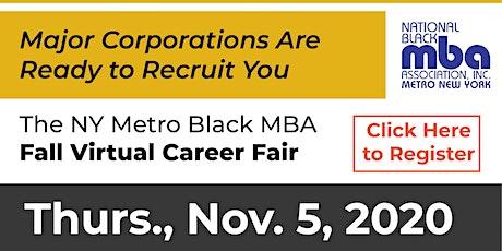 Metro NY Black MBA  Fall Virtual Career Fair 2020 tickets