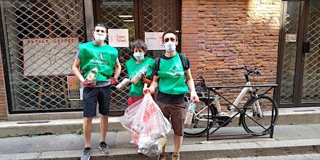 Nettoyage de rue à Toulouse (clean up) billets