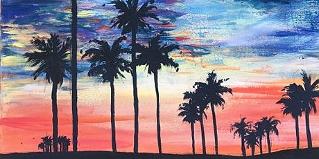 PAINT and SIP Online Class LIVE!! 'California Dreamin' tickets