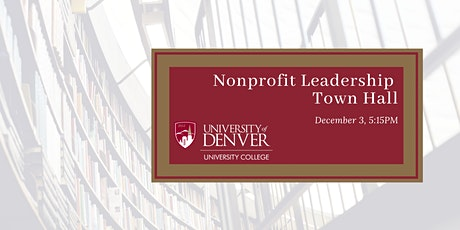 Nonprofit Leadership Town Hall tickets