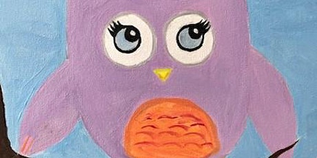 Mommy and Me Paint Class Live Online Class 'Happy Owl' tickets