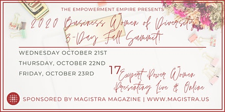 The 2020 Business Women of Diversity Fall Summit! (Online!!) tickets
