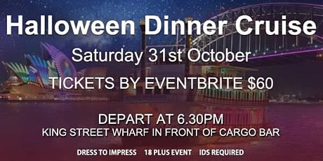 Halloween Dinner Cruise including Buffet Meal & Fr tickets