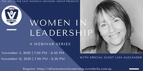 AFL Outer East Women In Leadership Webinar Series tickets