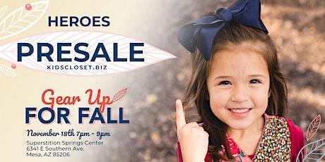 Kid's Closet - Mesa - 7pm HEROES Pre-sale - Nov 18th tickets
