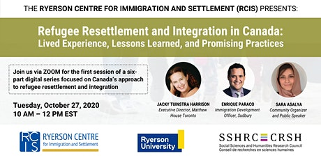 RCIS Digital Series: Refugee Resettlement and Integration in Canada tickets