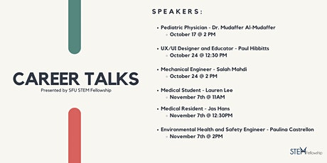 Career Talks Presented by STEM Fellowship SFU tickets