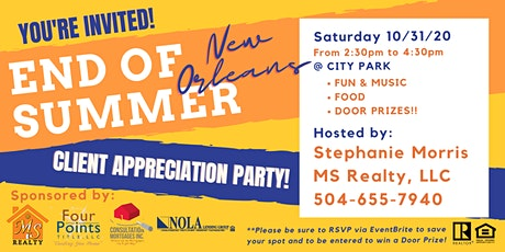 """End of """"New Orleans SUMMER"""" Client Appreciation Party tickets"""