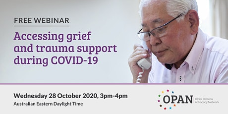 Accessing grief and trauma support during COVID-19 tickets