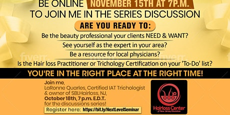 Should I become a Scalp Specialist or a Trichologist or Practitioner? tickets