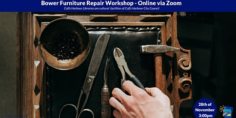 Bower Furniture Repair Cafe - Online via Zoom tickets