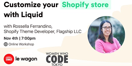 Customize your Shopify store with Liquid - Online workshop tickets