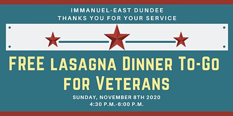 FREE Lasagna Dinner To-Go for Veterans 2020 tickets