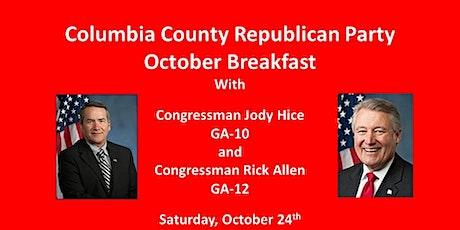 October Breakfast with Congressman Jody Hice tickets