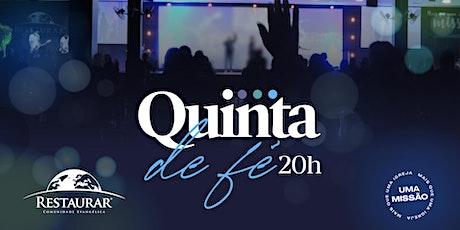 Culto Quinta de Fé | 22/10/2020 às 20h ingressos