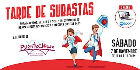 SUBASTA SOLIDARIA a beneficio de Puenteclown.org (Payasos de Hospital) entradas