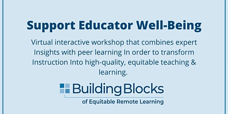 Building Blocks: Support Educator Well-Being