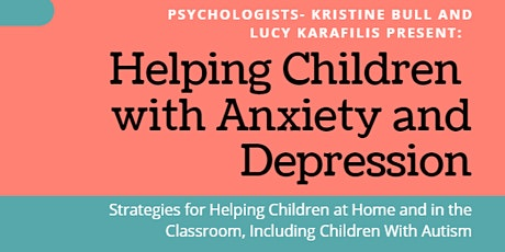 Helping Children with Anxiety and Depression tickets