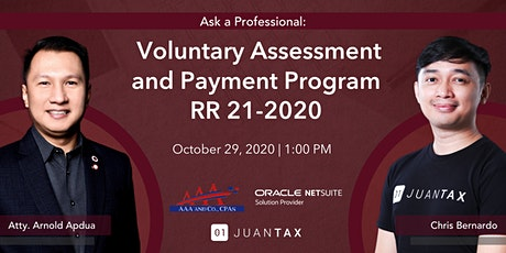 Ask a Professional: Voluntary Assessment and Payment Program RR 21-2020 tickets
