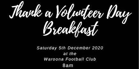 Thank a Volunteer Day Breakfast tickets