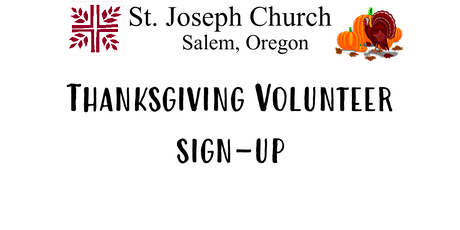 Thanksgiving Volunteer Sign-up tickets