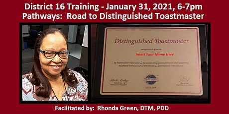 District 16 Training - Pathways Road to DTM tickets