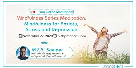 Mindfulness Meditation For Anxiety, Stress & Depression tickets