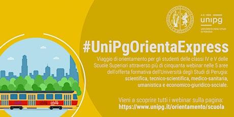 #UnipgOrientaExpress -  Come trasformare i rifiuti in risorsa biglietti